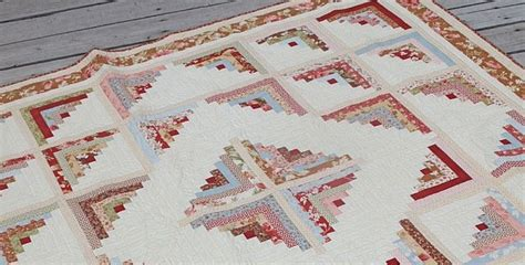 Log Cabin Patchwork Pattern - log cabin quilts are so versatile yet easy to make