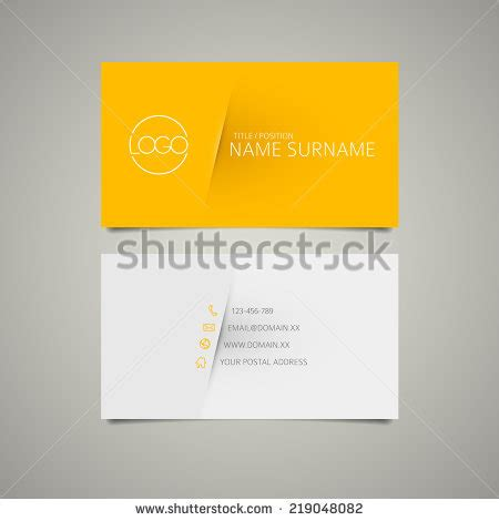 place card template stock business card set template bright green stock vector