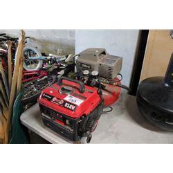 900 watt gas powered generator and 150 psi pancake compressor