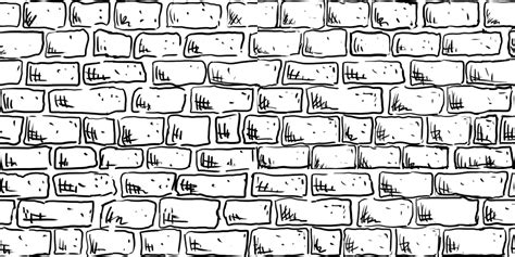 brick pattern drawing drawn brick pen pencil and in color drawn brick pen