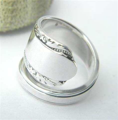sterling silver spoon ring nouveau scroll quot moonglow