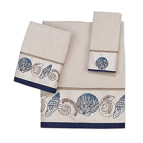 bed bath and beyond towels avanti hton shells bath towel collection in beige www