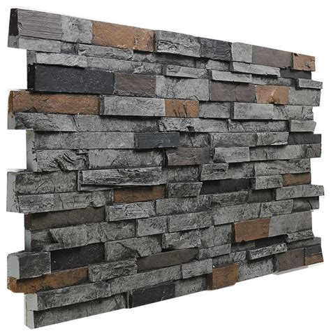 deep slate stacked wall panel graphite traditional siding and stone veneer by buy faux stone