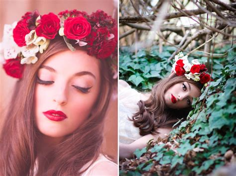Wedding Hair With Roses by Floral Wedding Crown With Roses And White Orchids