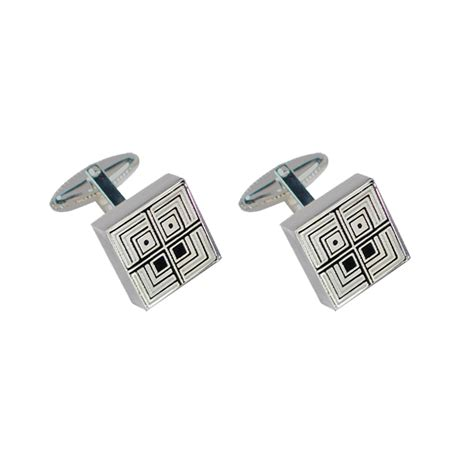 Square Cuff Link acme square gifts cuff links