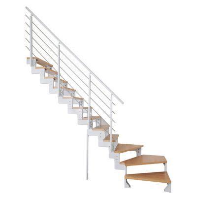 Escalier Quart Tournant Gauche 6822 by Escalier 1 4 Tournant Gauche Blanc Ch 234 Ne Tempo Castorama