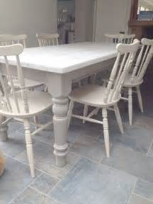 Gray Kitchen Table And Chairs Dining Chairs Given A 2 Colour Distress Using Sloan Country Grey Dining Table
