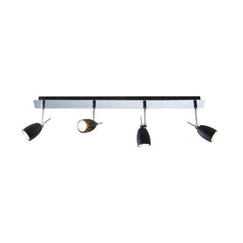 Lighting Spot by Halogen Spot Light Bar In Chrome With 4 Black Adjustable Spots