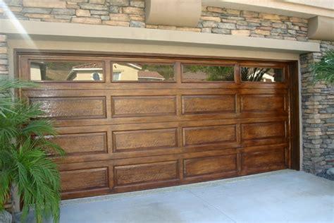 faux painting garage doors look like wood faux garage doors