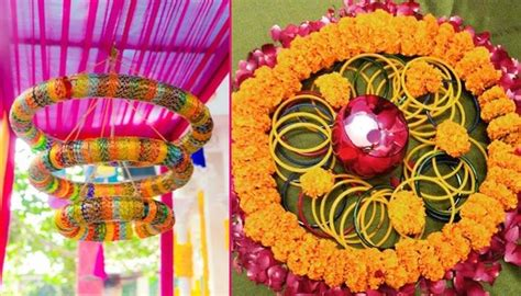 innovative ways   bangles   wedding decor
