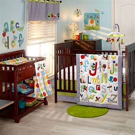 Alphabet Crib Bedding Nojo 174 Abc With Me By Mcdonald Bedding Collection Buybuy Baby