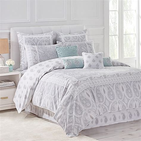 grey and white cover dena home reversible duvet cover in grey white bed