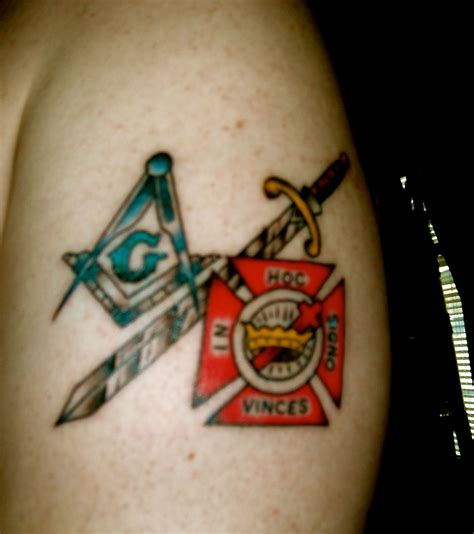 free mason tattoo my square compasses knights cross left arm free