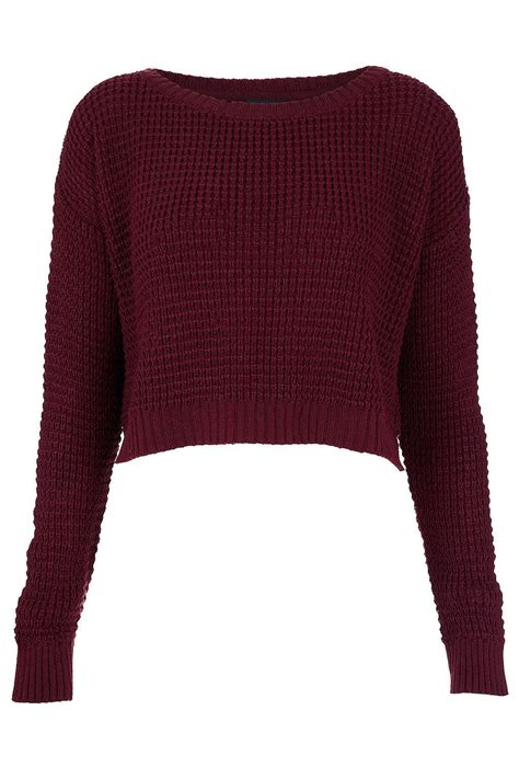 Knitted Jumper knitted textured crop jumper knitwear from topshop epic