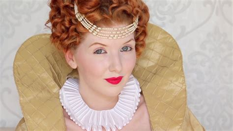 queen elizabeth hairstyles historically accurate queen elizabeth i makeup hair