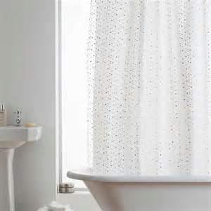 white sparkle shower curtain and white photo shower curtain