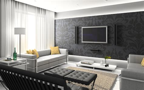 home design grey theme wall paper for your home interior designing ideas