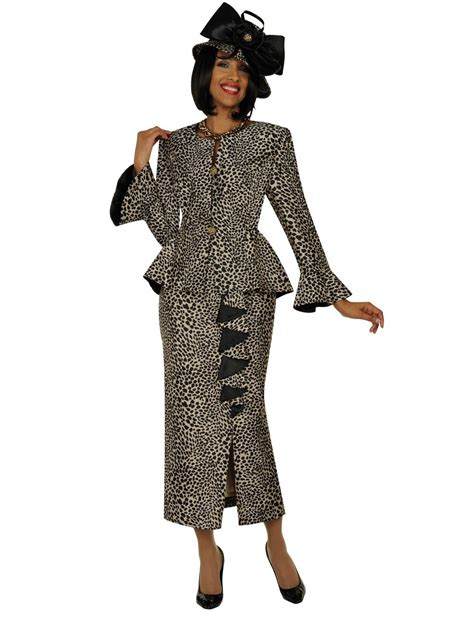 GMI G4792 Womens Leopard Print Church Suit   French Novelty