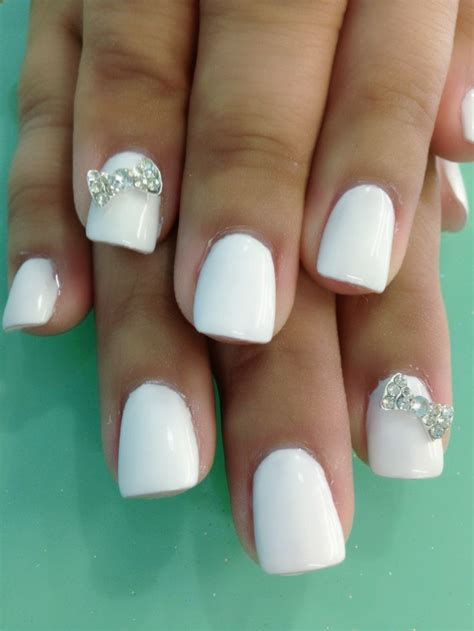 pattern gel nails white gel nails n bows design nails 2 pinterest