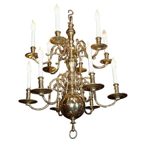 Colonial Brass Chandelier 2 Tier 10 Light Colonial Chandelier For Sale At 1stdibs