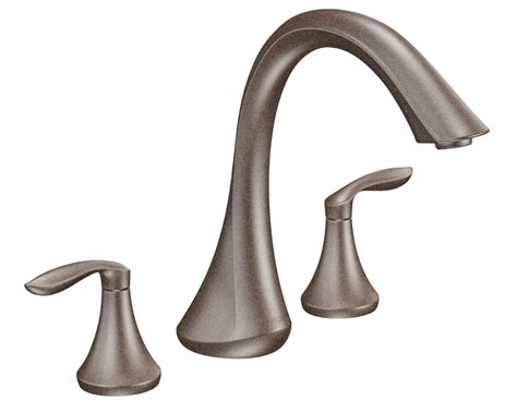 bronze bathtub faucets moen t943orb eva two handle high arc roman tub faucet