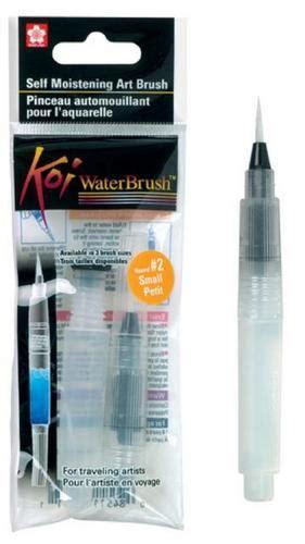 Koi Water Brush Barrel Small Kuas Lukis koi water brush 2 small self moistening brush country view crafts