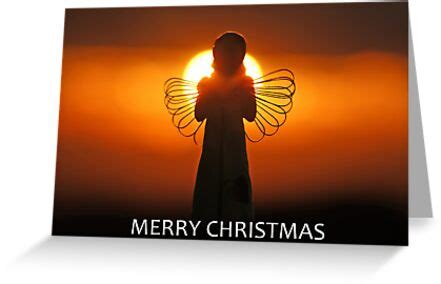 merry christmas angel greeting cards  david alexander elder redbubble