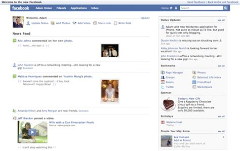 new photo layout on facebook facebook is getting a facelift the kmiec ramblings