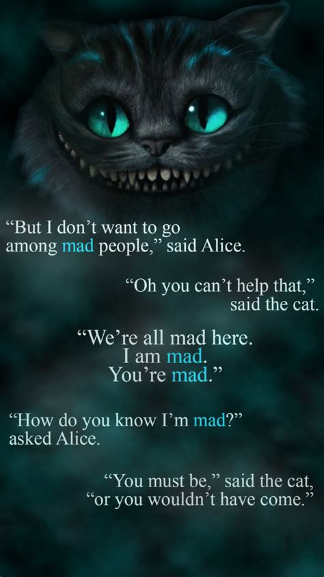 cat wallpaper with quotes cheshire cat quotes quotes