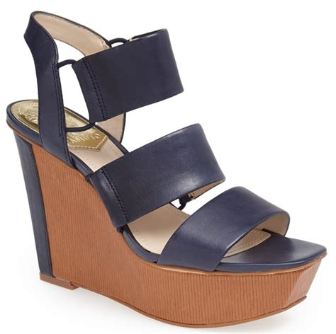 Sakia Sandiego Wedges Sandal Navy alba wears 55 sandals to baby shower hosting gig