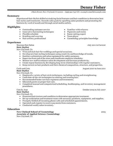 job description examples hairdresser 4 - Hairdresser Job Description