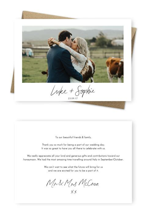 9 Wording Examples for Your Wedding Thank You Cards ? For