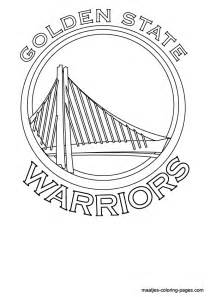 nba coloring pages golden state warriors logo coloring page free printable