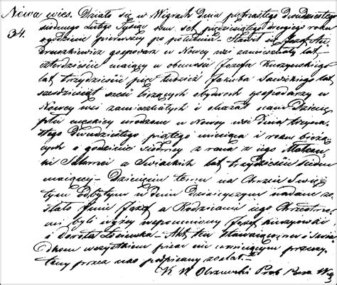 Poland Birth Records The Birth And Baptism Of J 243 Zef Andruszkiewicz 1852