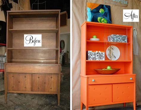 Hutch Orange before after best of cabinets and hutches design sponge