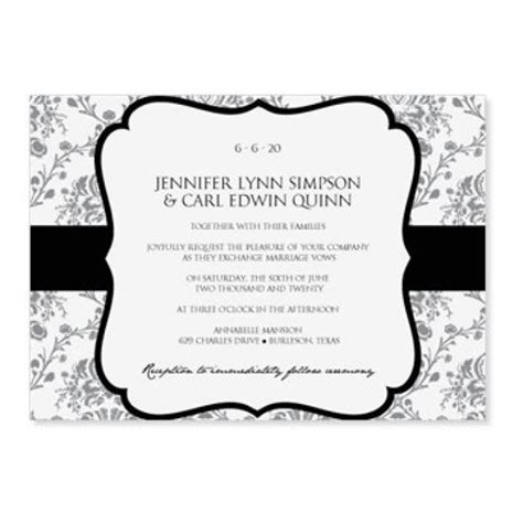 wedding invite word template instant wedding invitation template