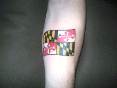 maryland flag tattoo designs 11 best baltimore orioles tattoos images on