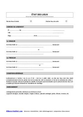 fiche etat des lieux vehicule pdf notice manuel d