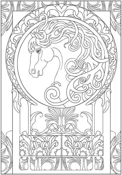 art nouveau animal design dover publishing coloring