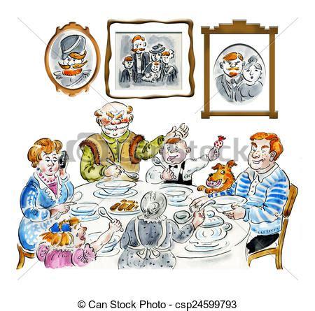 tavola disegno tavola cena famiglia tavola cena comico
