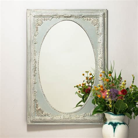 Handcrafted Mirrors - oval painted ornate mirror by