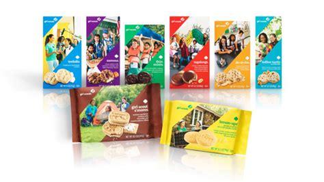 girl scouts launch  cookie packaging   season