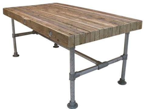 tafel van balken tafel van balken op zijn kant 5 0x9 5 met steigerbuis