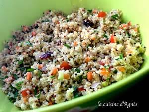 salade de quinoa et boulgour la cuisine d agn 232 sla
