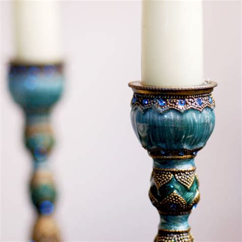 Closed Candle Holders by Peacock Shade Luxury Candle Stick