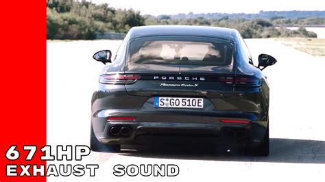 Porsche Panamera Turbo S Sound by Exhaust Sound 2018 Porsche Panamera Turbo S E Hybrid
