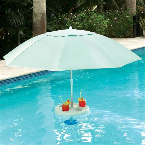 in pool table with umbrella the in pool umbrella hammacher schlemmer