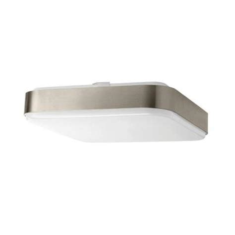 hton bay 1 light 12 in square led ceiling light