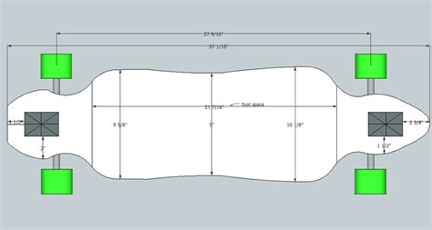 longboard templates drop through longboard template images