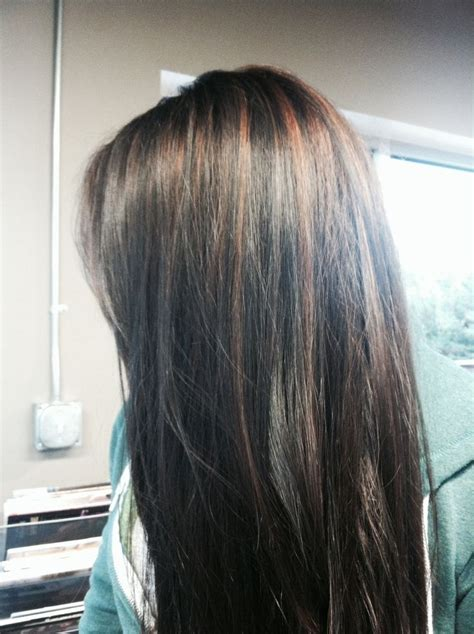 black hair with colored highlights colored highlights for black hair http www haircolorer